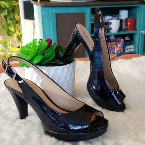 Antonio Melani Marine/Navy Peep Toe heels